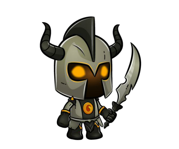 Darkness Knight - Medieval Character Art - Royalty Free Game Art Character - PNG Character