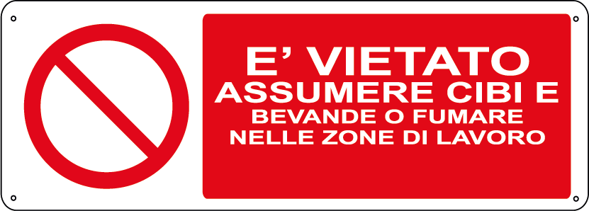 Eu0027 vietato assumere cibi e bevande o fumare nelle zone di lavoro orizzontale - PNG Cibo E Bevande