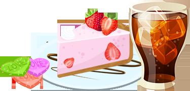 I cibi dolci e le bibite zuccherate hanno in comune un elevato contenuto di  zuccheri solubili. I dolci inoltre apportano spesso anche molti grassi. - PNG Cibo E Bevande