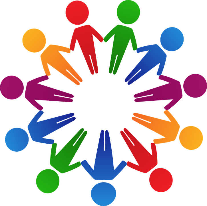 circle colorful cooperation holding hands human - PNG Circle Of Hands