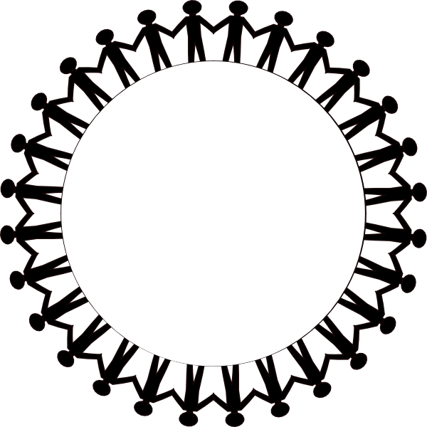 Download this image as: - PNG Circle Of Hands