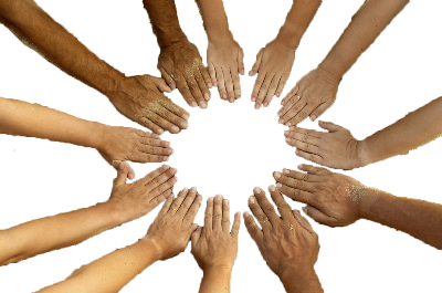 Hands In - PNG Circle Of Hands
