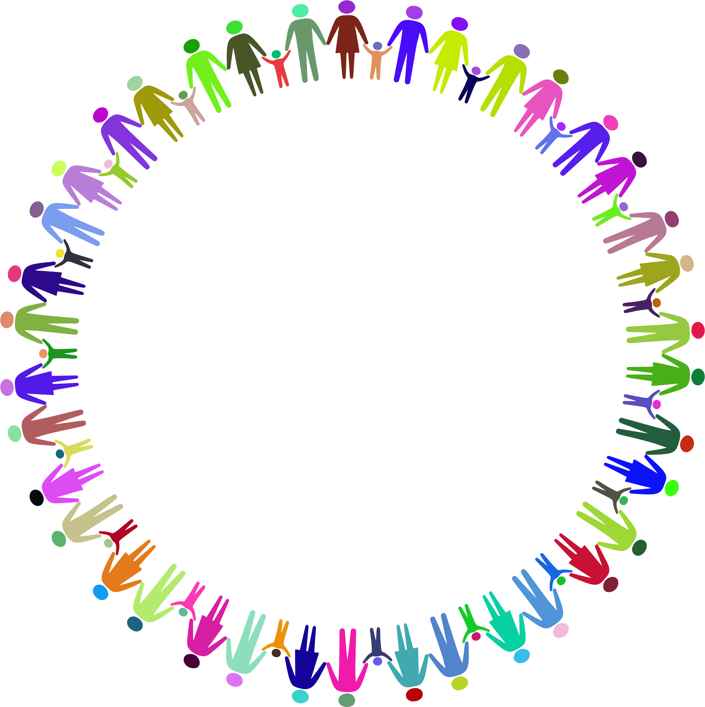 This free Icons Png design of Family Holding Hands Circle Prismatic PlusPng.com  - PNG Circle Of Hands