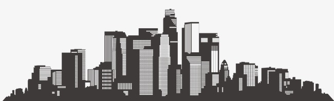 architecture banner buildings city silhouette, Black, Hand Painted, City building  PNG - PNG City Buildings