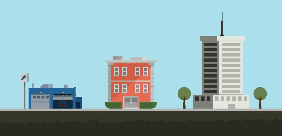 City buildings. - PNG City Buildings