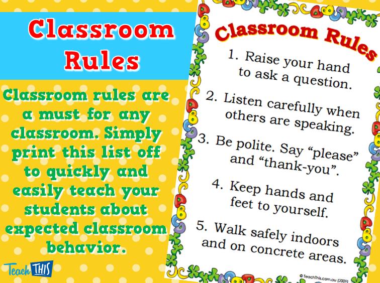 Classroom Rules - PNG Classroom Rules