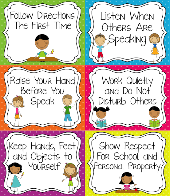 Classroom Rules that are tangible and easy for younger students to  understand. - PNG Classroom Rules