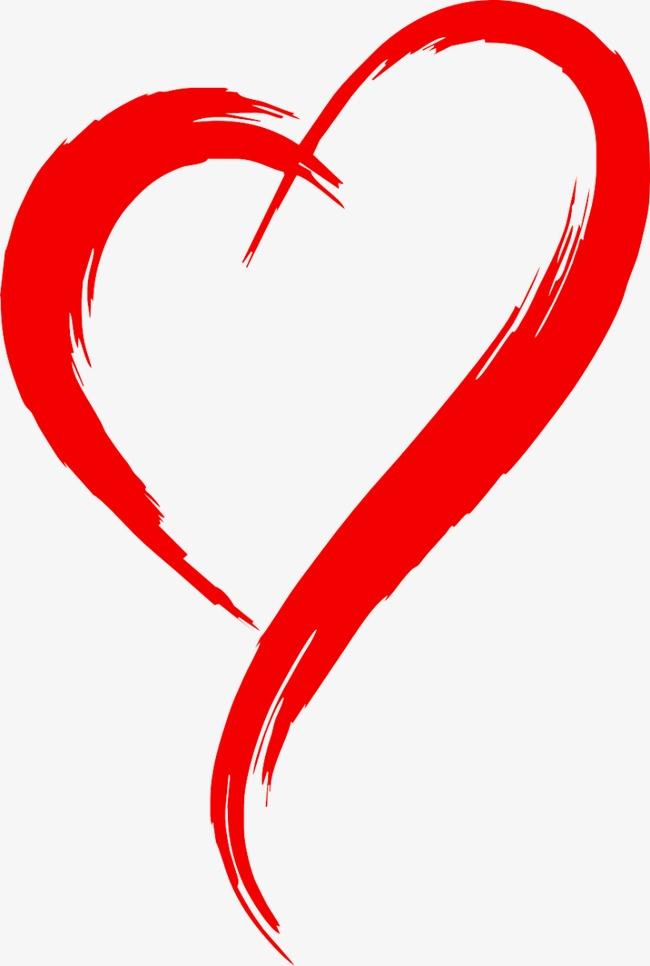 Coeur, De Lu0027encre, Rouge Image PNG gratuite - PNG Coeur