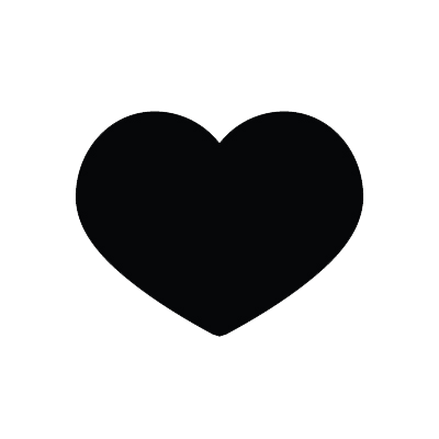 Coeur noir by PortgasDNat-chan PlusPng.com  - PNG Coeur