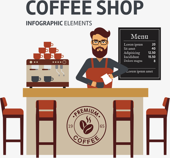 Coffee shop vector, Hand, Coffee, Coffee Bean PNG and Vector - PNG Coffee Shop
