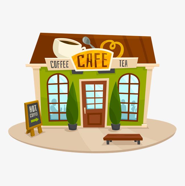 Vector coffee shop, Coffee Shop, Vector Coffee Material, Coffee Shop PNG  and Vector - PNG Coffee Shop