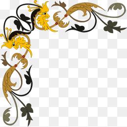 Continental corner flower, Corner Flower, Continental, Color PNG Image and  Clipart - PNG Corner Designs