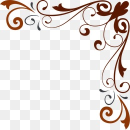 Corner flower pattern shading material, Corner Flower, Euporean Pattern,  Hand Painted PNG Image - PNG Corner Designs