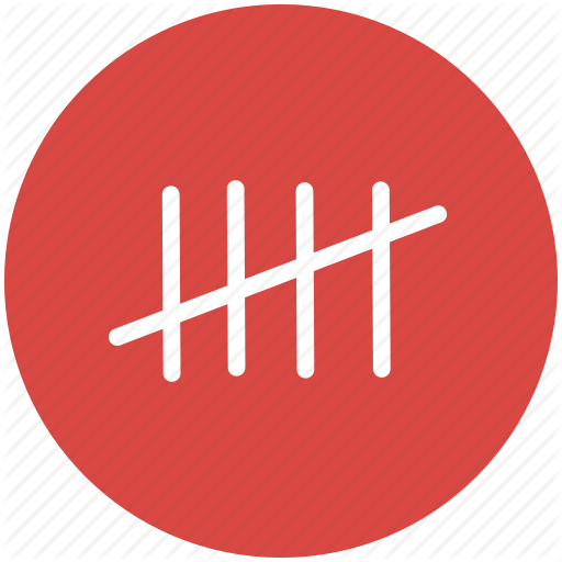 count, counting, crossout, marks, tally, tally chart icon - PNG Counting