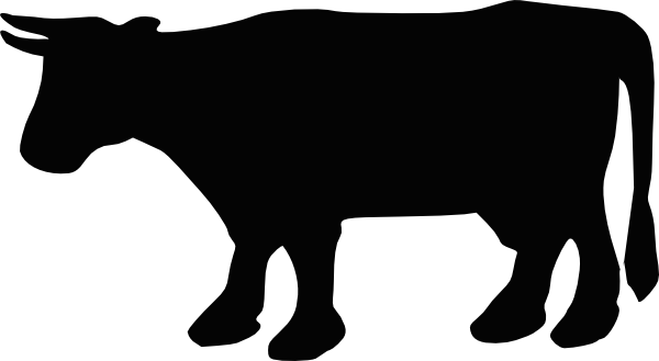 Cow Silhouette 1 - PNG Cow Black And White