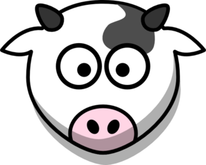 Cow Head Only Small Eyes Clip Art - PNG Cow Head