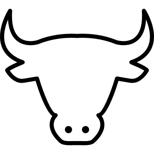Cow head outline free icon - PNG Cow Head