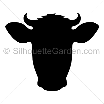 Cow head silhouette clip art. Download free versions of the image in EPS,  JPG - PNG Cow Head