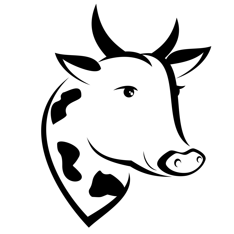 Vector cowu0027s head - PNG Cow Head