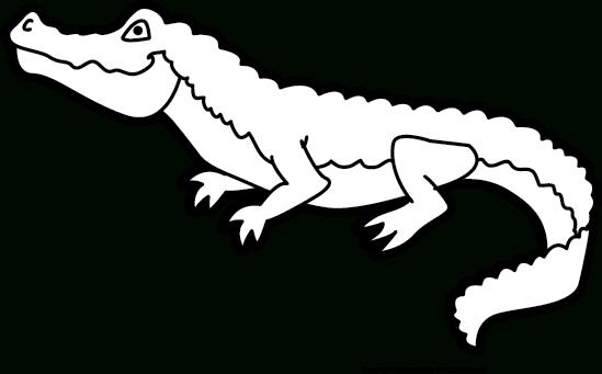 PNG Crocodile Black And White - 133440