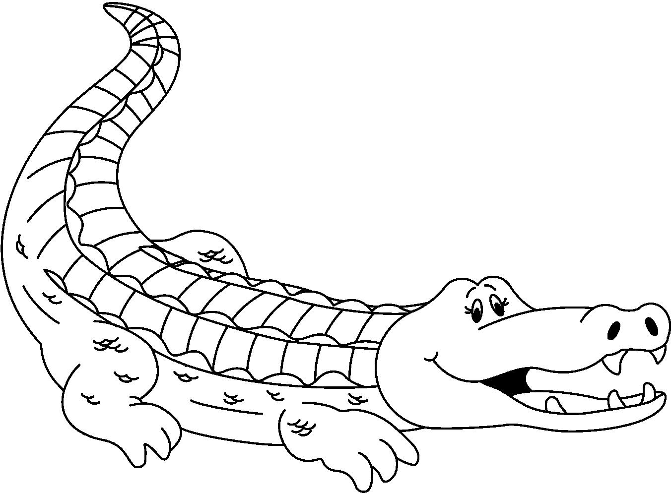 PNG Crocodile Black And White - 133435