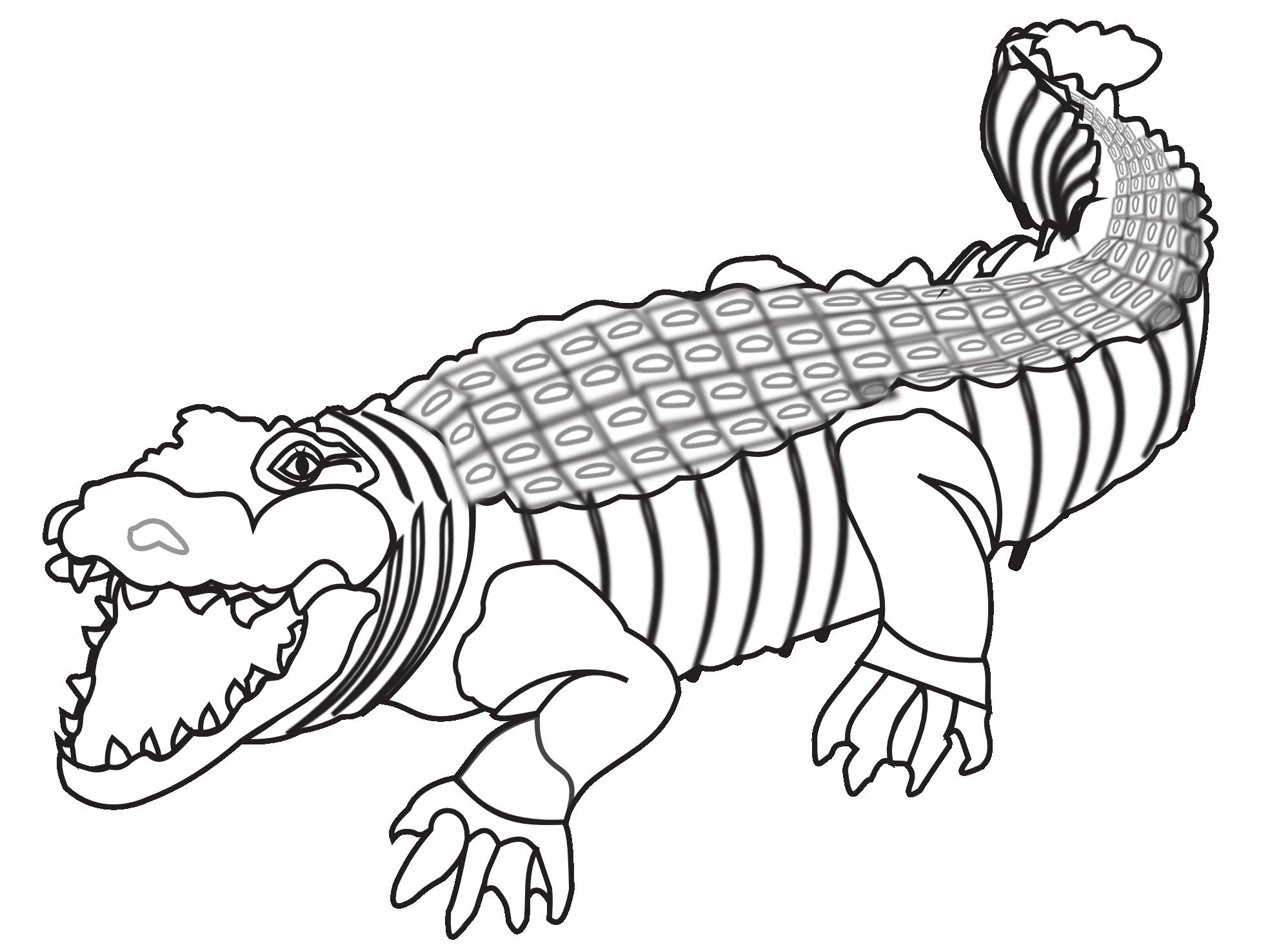 PNG Crocodile Black And White - 133438