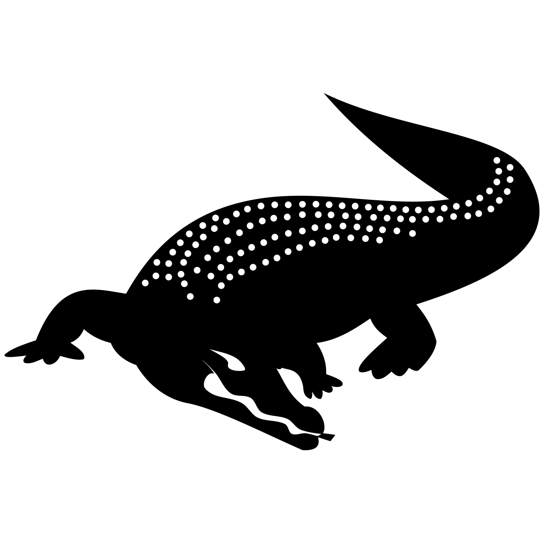 PNG Crocodile Black And White - 133441