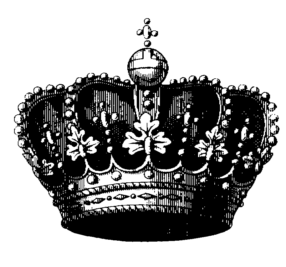 Crown black and white clipart - photo#32