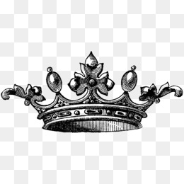 PNG Crown Black And White - 133498