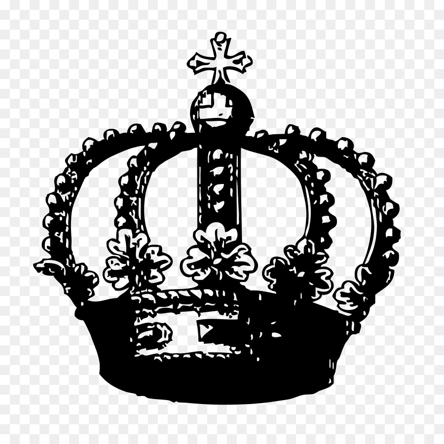 PNG Crown Black And White - 133514