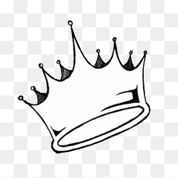 PNG Crown Black And White - 133503