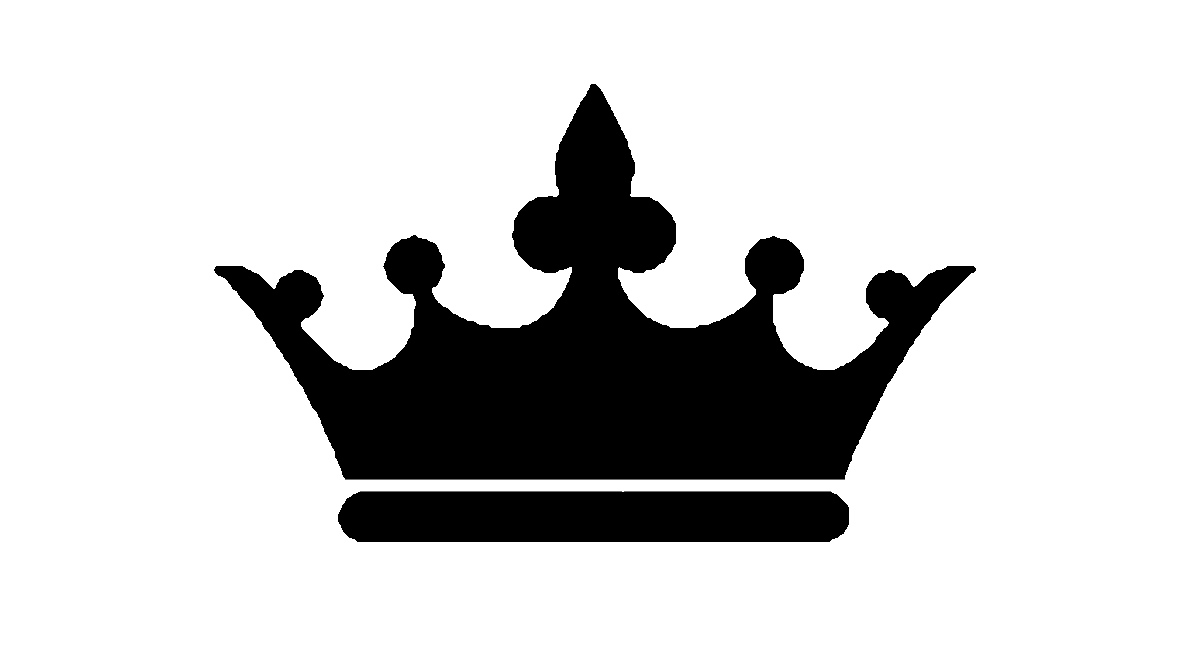 PNG Crown Black And White - 133510