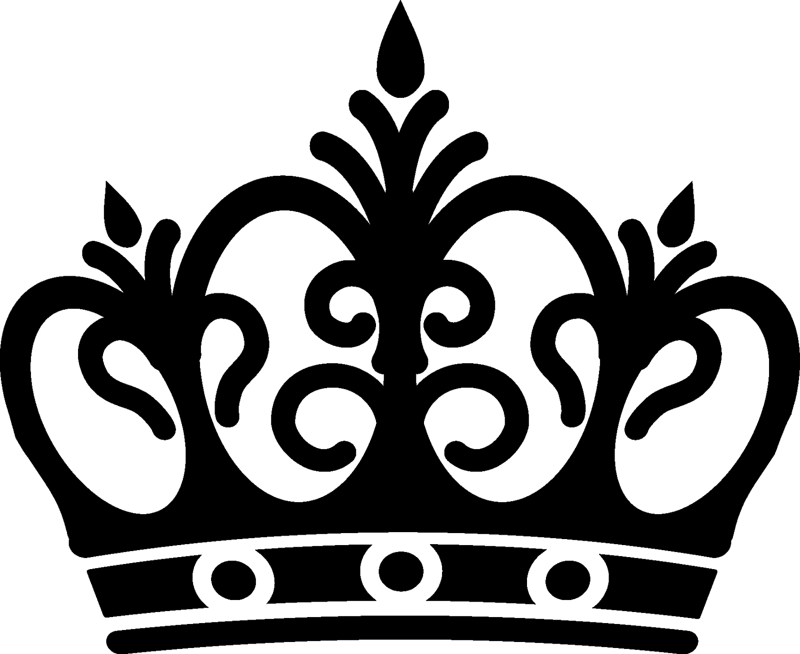 PNG Crown Black And White - 133512