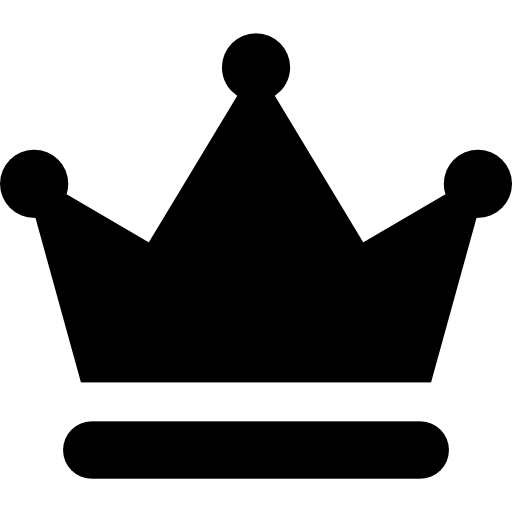 PNG Crown Black And White - 133508