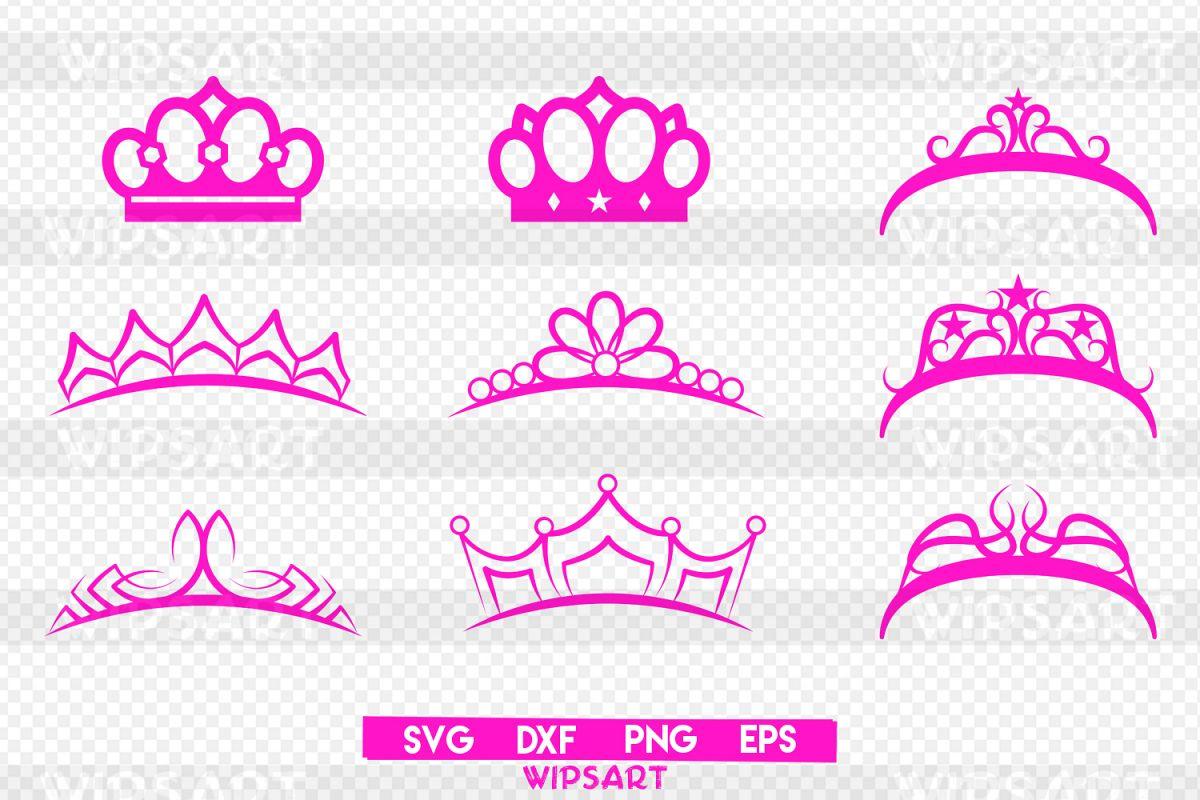 Crown svg, crown princess svg, crown clipart, crown silhouette svg, - PNG Crown Princess