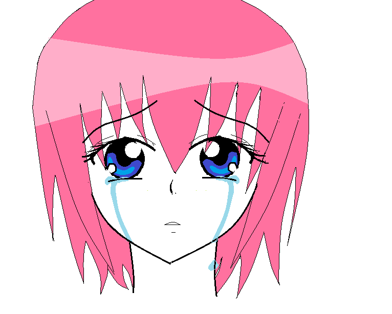 Anime Crying Girl by MayraInWonderland PlusPng.com  - PNG Crying Girl