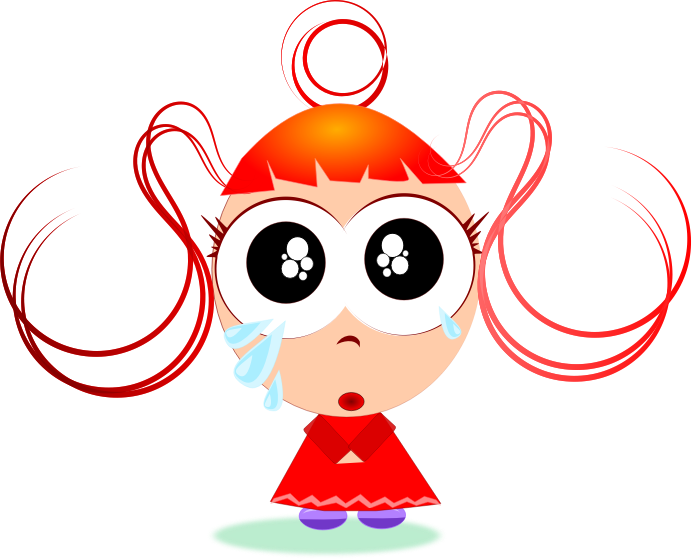 Free cute little girl crying clip art clipart - PNG Crying Girl