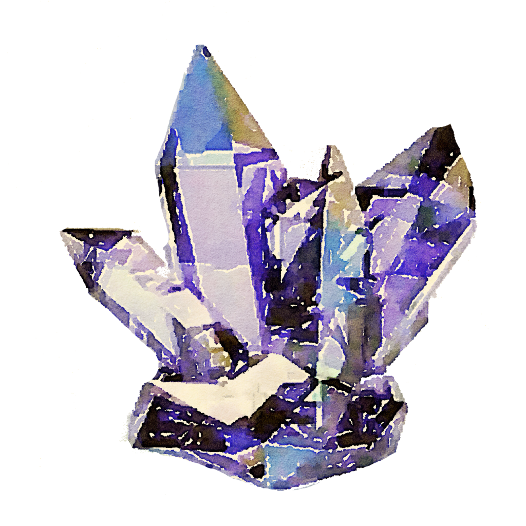 . PlusPng.com FREE-cyrstals-crystal-watercolor-png by anjelakbm - PNG Crystal