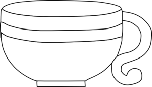 Black And White Cup Clip Art - PNG Cup Black And White