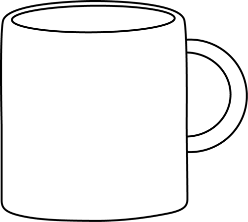 Black and White Mug - PNG Cup Black And White