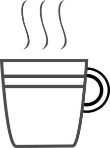 Coffee Cup Clip Art - PNG Cup Black And White