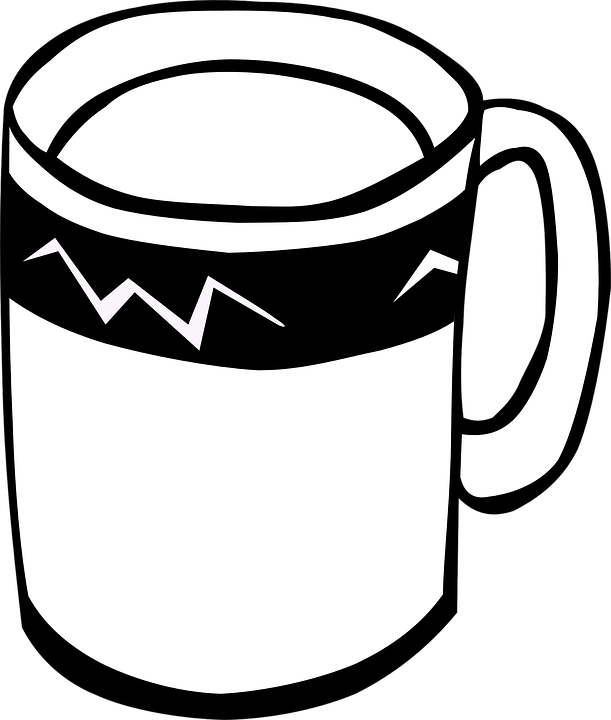 Cup, Mug, Handle, Black And White, Drink, Beverage - PNG Cup Black And White