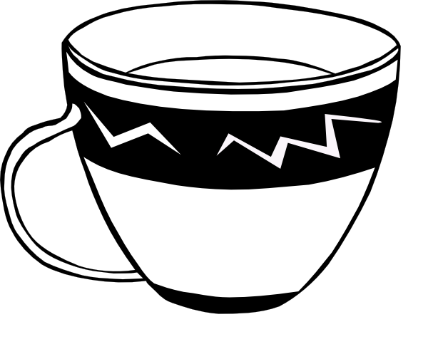PNG Cup Black And White - 133124