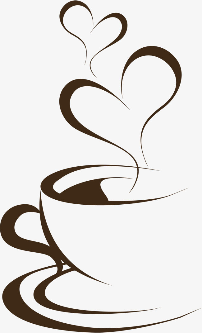 Hand painted brown coffee cup, Hand, Brown, Coffee Cup PNG Image - PNG Cup Black And White