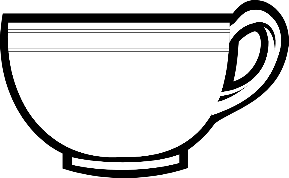 Illustration of a tea cup : Free Stock Photo ? - PNG Cup Black And White
