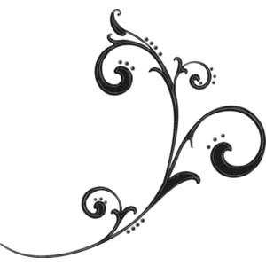 black flourish - PNG Curlicues