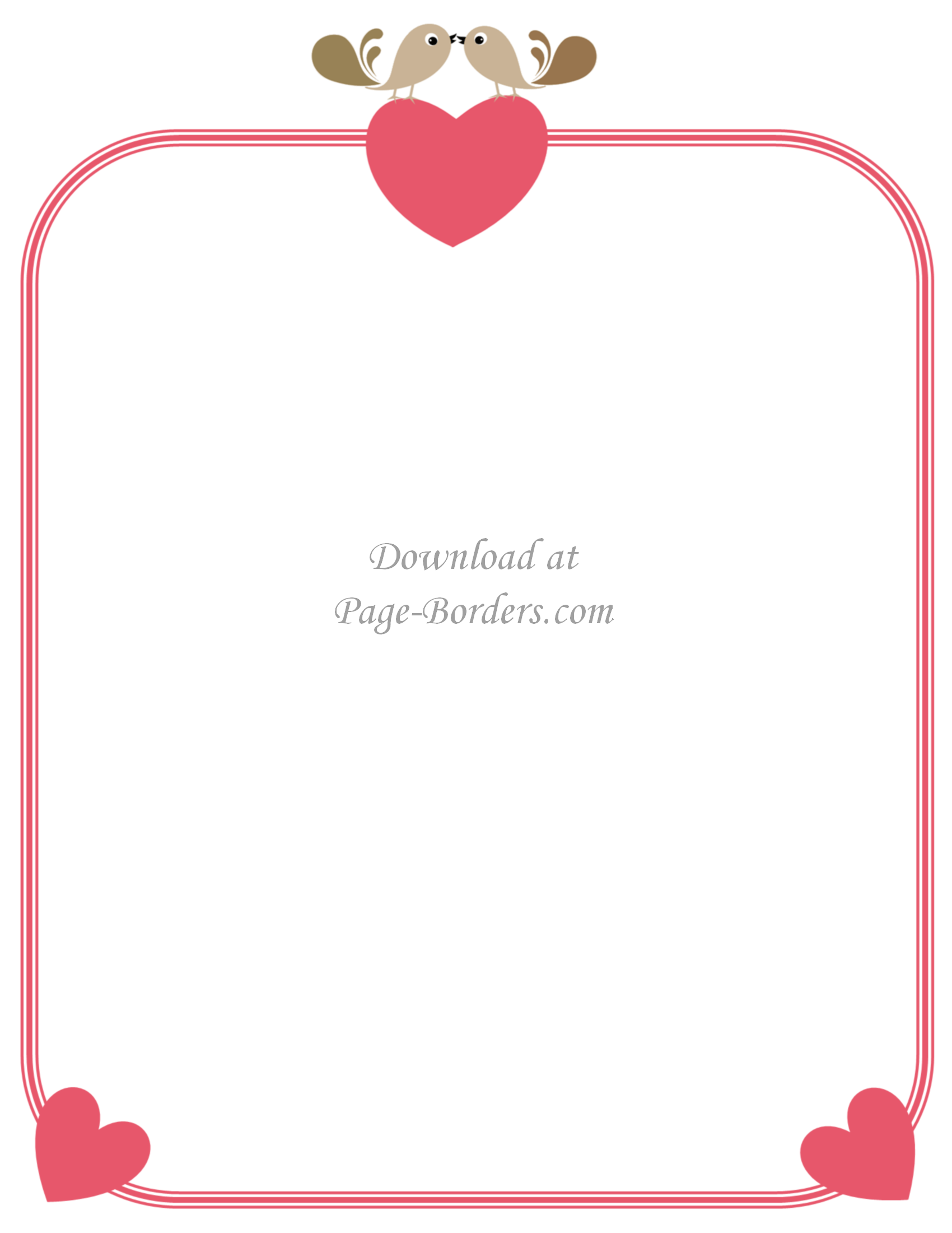 cute heart border