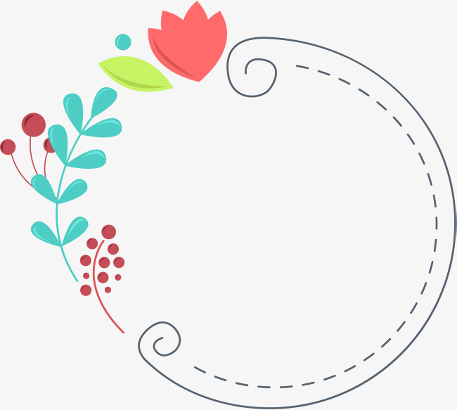 Flowers green leaves cute borders, Fresh Arts And Literature, Flowers, Text  Border Free PNG and Vector - PNG Cute Borders