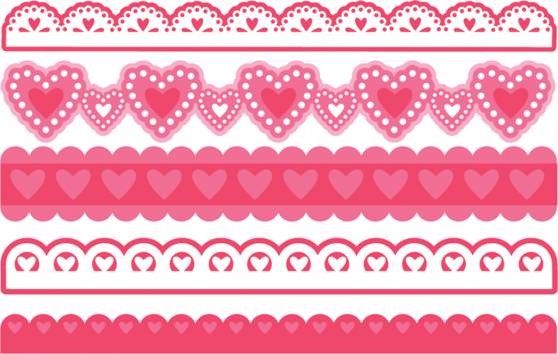 Valentine Borders SVG bundle for scrapbooking cardmaking valentines svg  files free svgs cute svg cuts - PNG Cute Borders