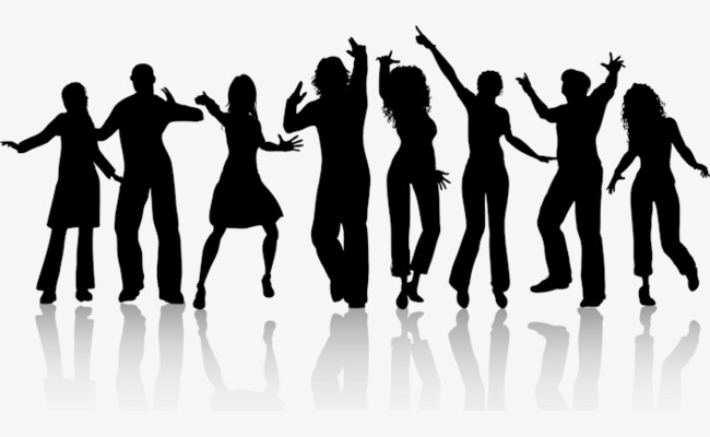 a group of people dancing, Hand Painted, Crowd, Dance PNG Image and Clipart - PNG Dancing Pictures